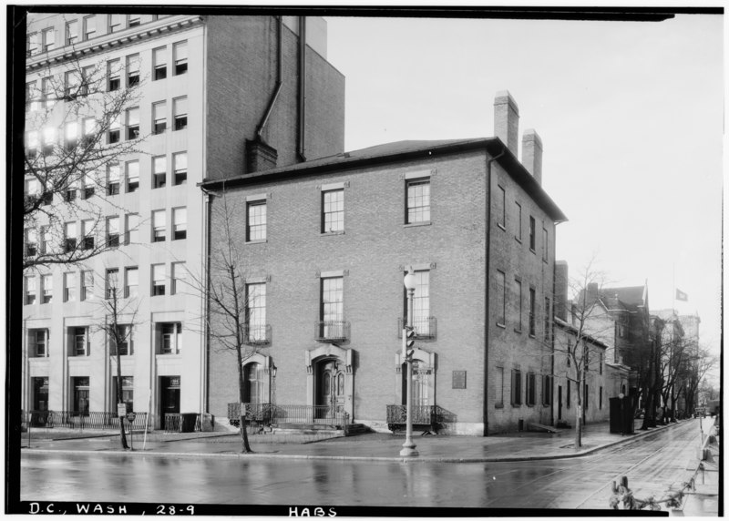 File:Historic American Buildings Survey John O. Brostrup, Photographer January 9, 1937 10-00 A. M. VIEW FROM NORTHEAST (front) - Decatur House, National Trust for Historic Preservation, HABS DC,WASH,28-9.tif
