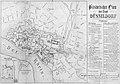 Historischer Plan der Stadt Düsseldorf, Ernst von Schaumburg, Düsseldorf im April 1866.jpg