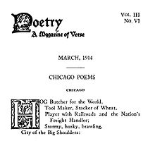 Essay on the poem chicago
