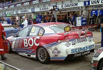 Brad Jones Racing - The Holden VE Commodore of Jason Bright at the 2011 Clipsal 500.