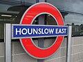 Hounslow East stn roundel.JPG