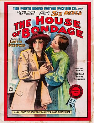 Lottie Pickford - The House of Bondage (1914) poster