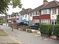 Houses and shared cycle path, Western Avenue, North Acton - geograph.org.uk - 241305.jpg