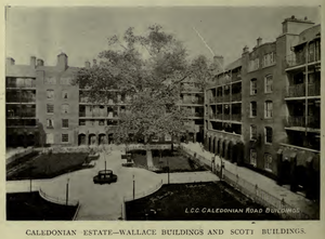 Caledonian Estate - An image of the central courtyard in 1913