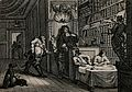 Hudibras addresses a lawyer who sits in an elaborately decor Wellcome V0049157.jpg