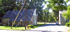 New Paltz (village), New York - Stone houses of Historic Huguenot Street in New Paltz. They are among the surviving examples of early stone houses built by Europeans in North America.