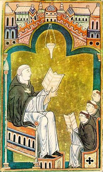 Hugues de Saint-Victor (mignature anglaise anonyme, XIIIe siècle)