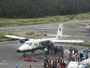 Simikot Airport - Tara Air Twin Otter at Simikot