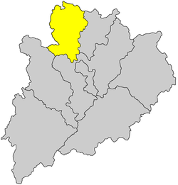 Location of Pingyuan County, Meizhou