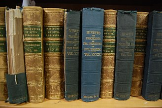 Institution of Civil Engineers - Copies of the Proceedings of the ICE in the Great George Street library