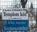 II. Bezirk, Hidigut-Altdorf, Kirchengässchen und Kirche, 2019 Pesthidegkút-Ófalu.jpg