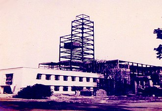 Indian Institute of Technology Kharagpur - The main building of the institute during construction (1955)