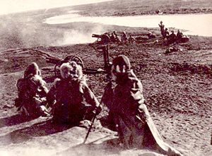 Jinzhou Operation - Image: IJA artillery in Manchuria