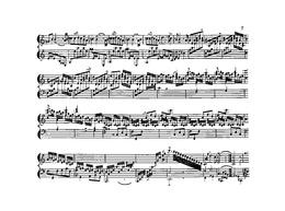 """Rameau, Ausschnitt aus """"Les trois mains"""", Nouvelles suites de pieces de clavecin, c. 1727 (Quelle: Wikimedia)"""