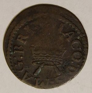 Threepence (British coin) - Threepence of James VI and I, minted in Ireland.