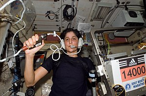 Sunita Williams - Williams became the first person to run the Boston Marathon from the space station on April 16, 2007