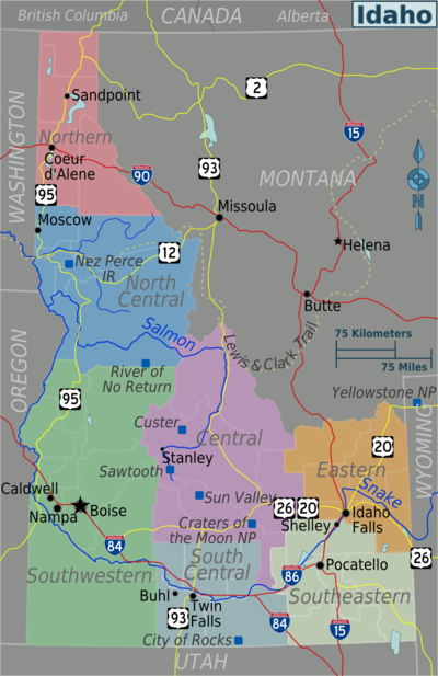 Idaho – Travel guide at Wikivoyage on idaho rivers, idaho location on map, idaho county map, idaho blm maps, idaho nrcs mlra map, idaho natural resources map, boulder city idaho map, idaho department of lands map, u.s. federal land map, idaho hunting map, idaho most beautiful, kootenai county snow load map, idaho sand dunes map, idaho unit 28 elk population, new mexico blm land map, kootenai county zoning map, idaho land use map, idaho big game unit map,