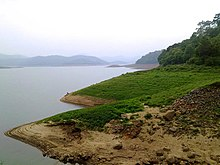Idukki Reservoir from Anchuruli,