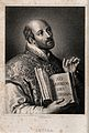 Ignatius of Loyola. Stipple engraving by W. Holl after Bolsw Wellcome V0032195.jpg