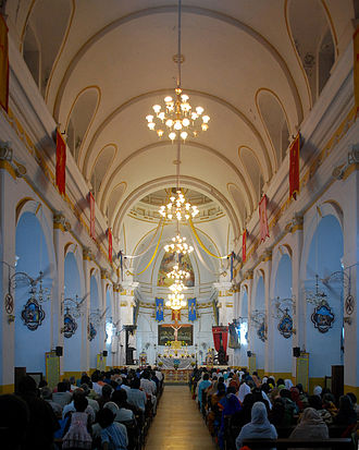 Immaculate Conception Cathedral, Pondicherry - Image: Immaculate Conception Pondy 28
