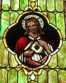 Immaculate Conception Catholic Church (Port Clinton, Ohio) - stained glass, Sacred Heart.JPG