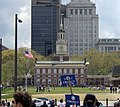 Independence Hall and Obama Rally Sign (2432765923).jpg