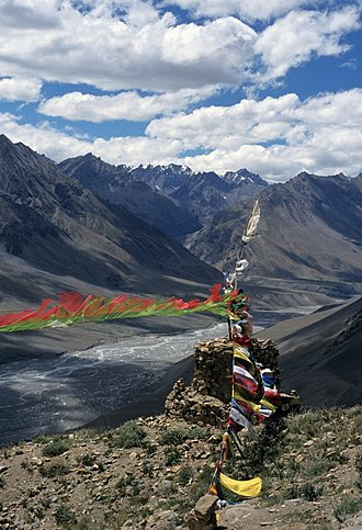 Brathay Exploration Group - Stupa above Ki Gompa and the Spiti River in India.