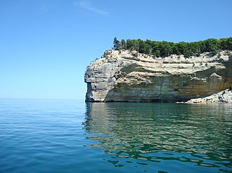 Pictured Rocks National Lakeshore - Indian Head as seen during Pictured Rocks Cruises