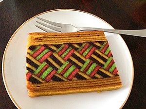 Spekkoek - Image: Indonesian kue lapis legit 20130217