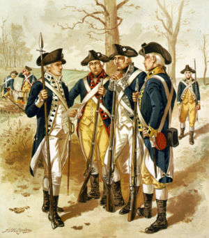 Continental Army - Infantry of the Continental Army.