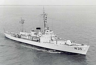 Mid-Ocean Escort Force - United States Coast Guard cutter Ingham, shown here in a post-war configuration, is one of the few larger MOEF escorts to be preserved