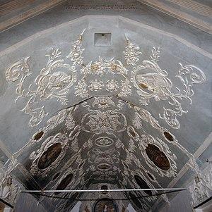 Clara Elisabeth of Manderscheid-Blankenheim - Image: Interieur, overzicht van het stucplafond met geschilderde medaillons Thorn 20384579 RCE