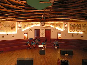 Koshare Indian Museum and Dancers - Interior view of the Koshare Kiva where the Koshare Indian Dancers perform