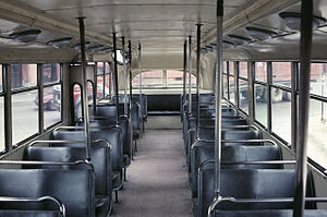 Trolleybuses in Valparaíso - Interior of one of the 1947 Pullman trolleybuses