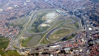 Vista aérea do autódromo de Interlagos