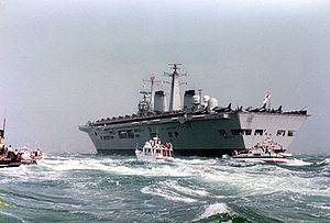 HMS Invincible (R05) - Invincible returns to the Solent after the Falklands War