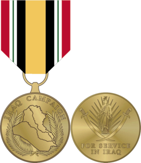 Iraq Campaign Medal United States military campaign medal