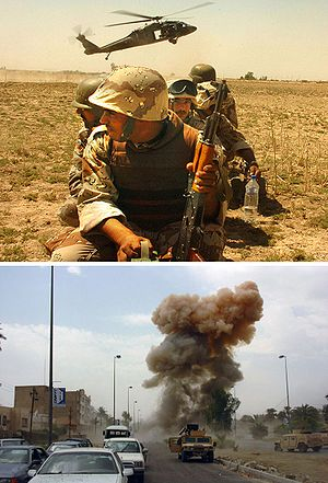 Iraq War soldiers and bombing