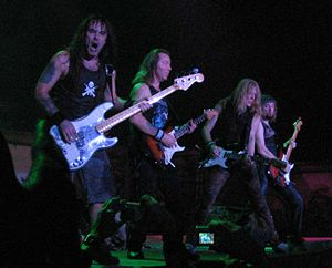 Steve Harris, Dave Murray, Janick Gers and Adr...