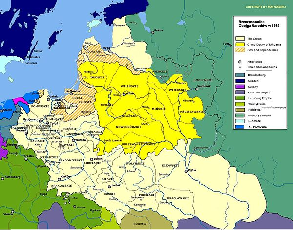 Poland and Lithuania after the Union of Lublin (1569) Irp1569.jpg