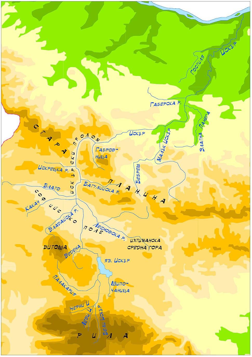 Iskar Map of the Bassin