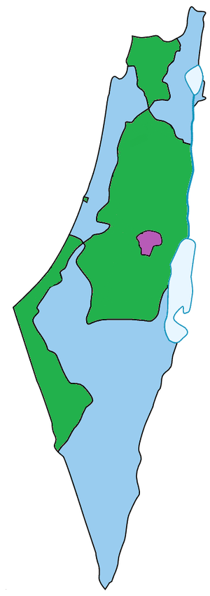 English: A map of Israel, Jerusalem and Palest...