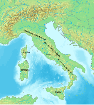 Relief Map of the Appennines