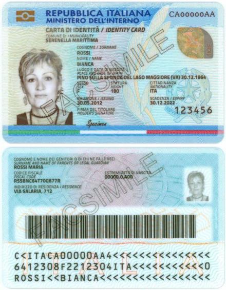 Carta d\'identità elettronica italiana - Wikiwand