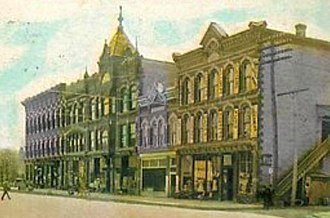 National Register of Historic Places listings in Gratiot County, Michigan - Image: Ithaca Downtown A
