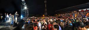 Jorge Armando Pérez - J.A. Pérez addressing a large crowd of more than 20,000 people at his Costa Rica Republic of Joy Festival in 2014.