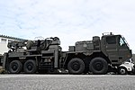 JGSDF Heavy Wheeled Recovery Vehicle(38-5010) right front low-angle view at Camp Itami October 7, 2018 03.jpg