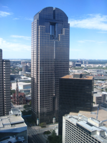The Chase Tower, in which the Dallas studio was located JPMorganChaseTower.png