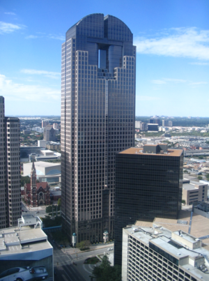 JP Morgan Chase Tower in Dallas, Texas.