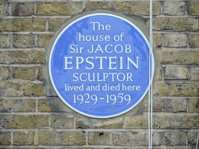 Jacob Epstein blue plaque - The house of Sir Jacob Epstein Sculptor lived and died here 1929-1959